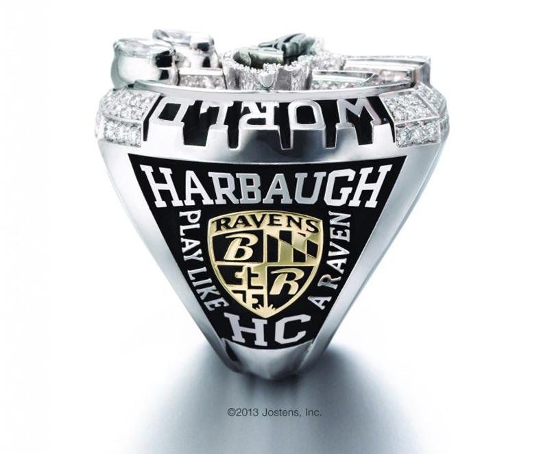 Harbaugh side of Ravens super bowl ring