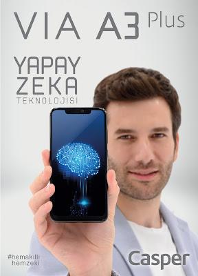 Casper'dan Yapay Zeka Teknolojisi: 6 GB Ram'li Casper VIA A3 Plus