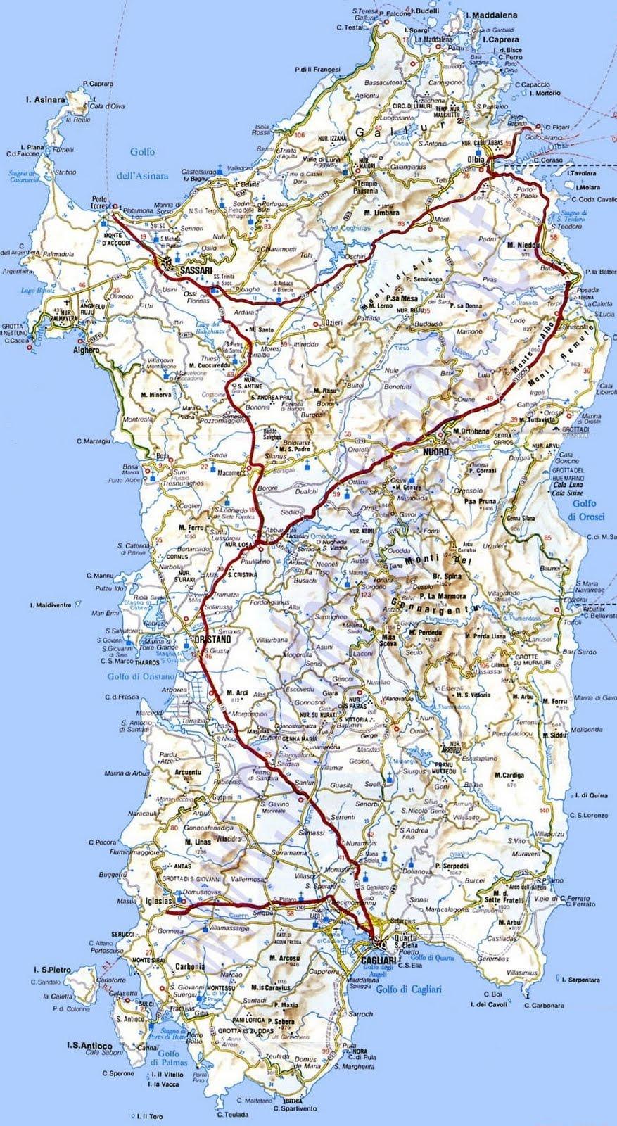 Cartina Sardegna Pula.Google Maps Europe Mappa D Sardegna Isola Immagini