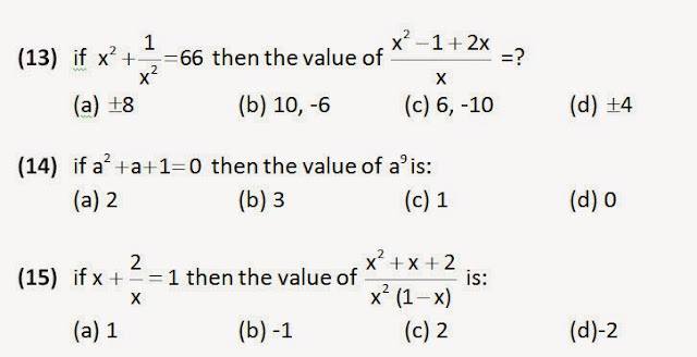 Algebra for ssc cgl tier 2