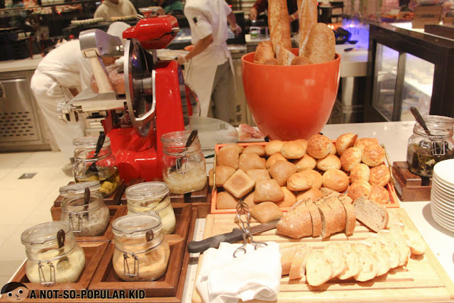 Buffet Bread Section - Hyatt Hotel