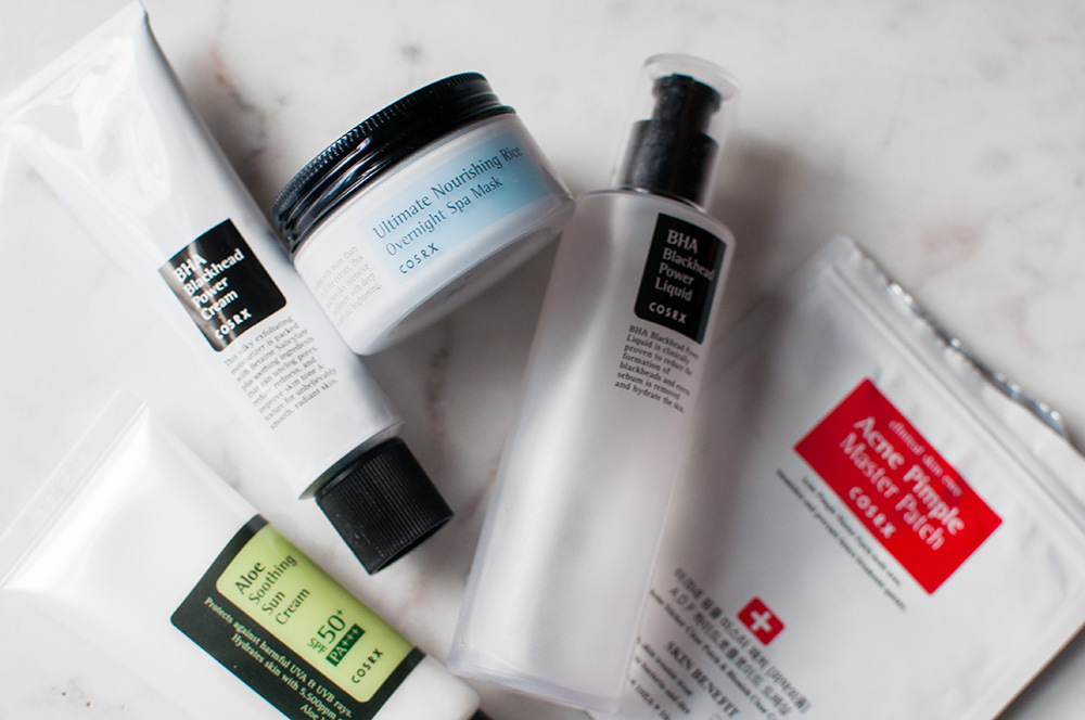 cosrx, cosrx skincare, cosrx skincare routine, cosrx review, cosrx flatlay