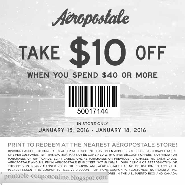 What sizes does Aeropostale stock?