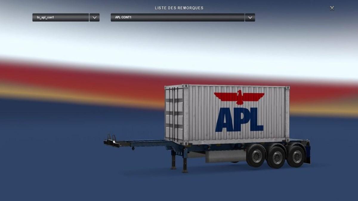 APL White Trailer Container