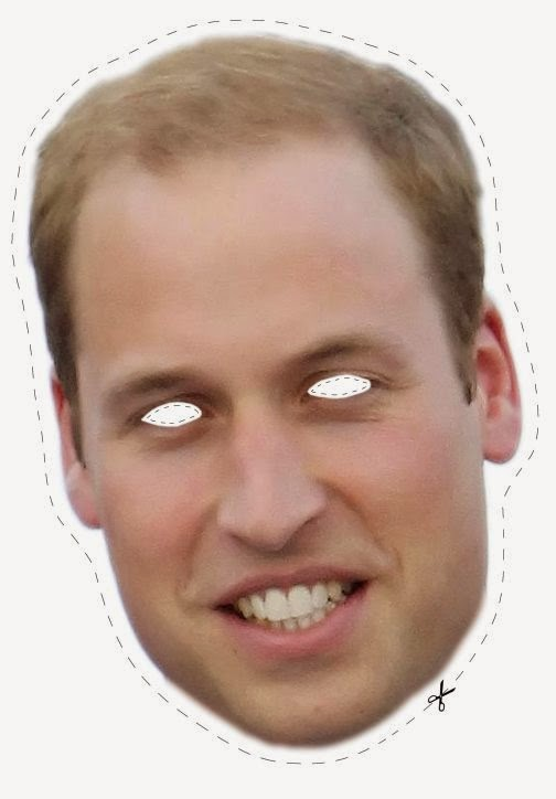 English Royal Family Free Printable Masks - Oh My Fiesta -1451