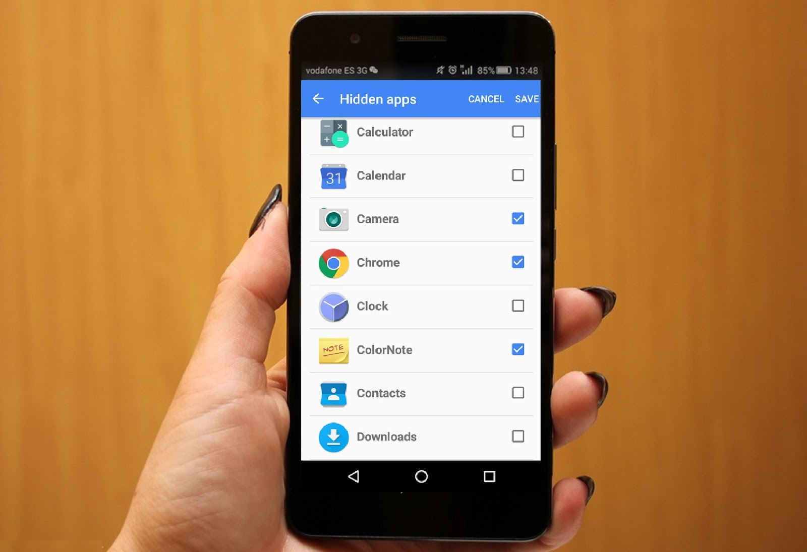 How to remove hidden apps on android