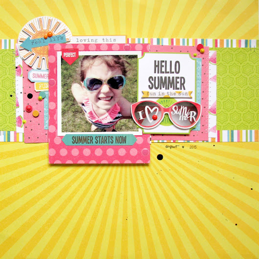Photoplay paper - Hello Summer