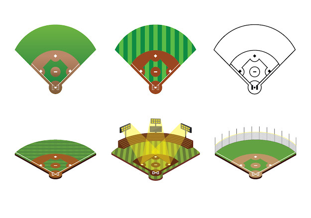 Free Baseball Diamond Vector