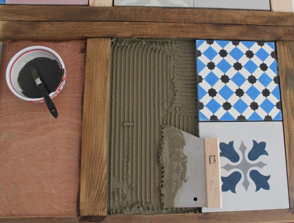 Top gîte Baron: Cementtegeltafel #XW12
