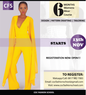 Fashion Design, Pattern Drafting, Tailoring registration now open