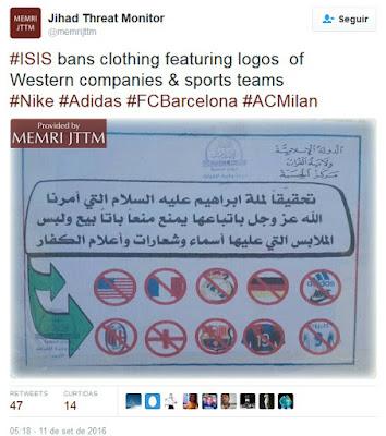 EI pune uso de uniformes de futebol com chibatadas na Síria