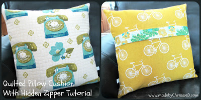 Tutorial:-Quilted-Pillow-Cushion-With-Hidden-Zipper