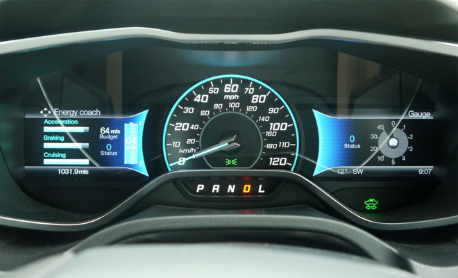 Ford Focus Electric instruments