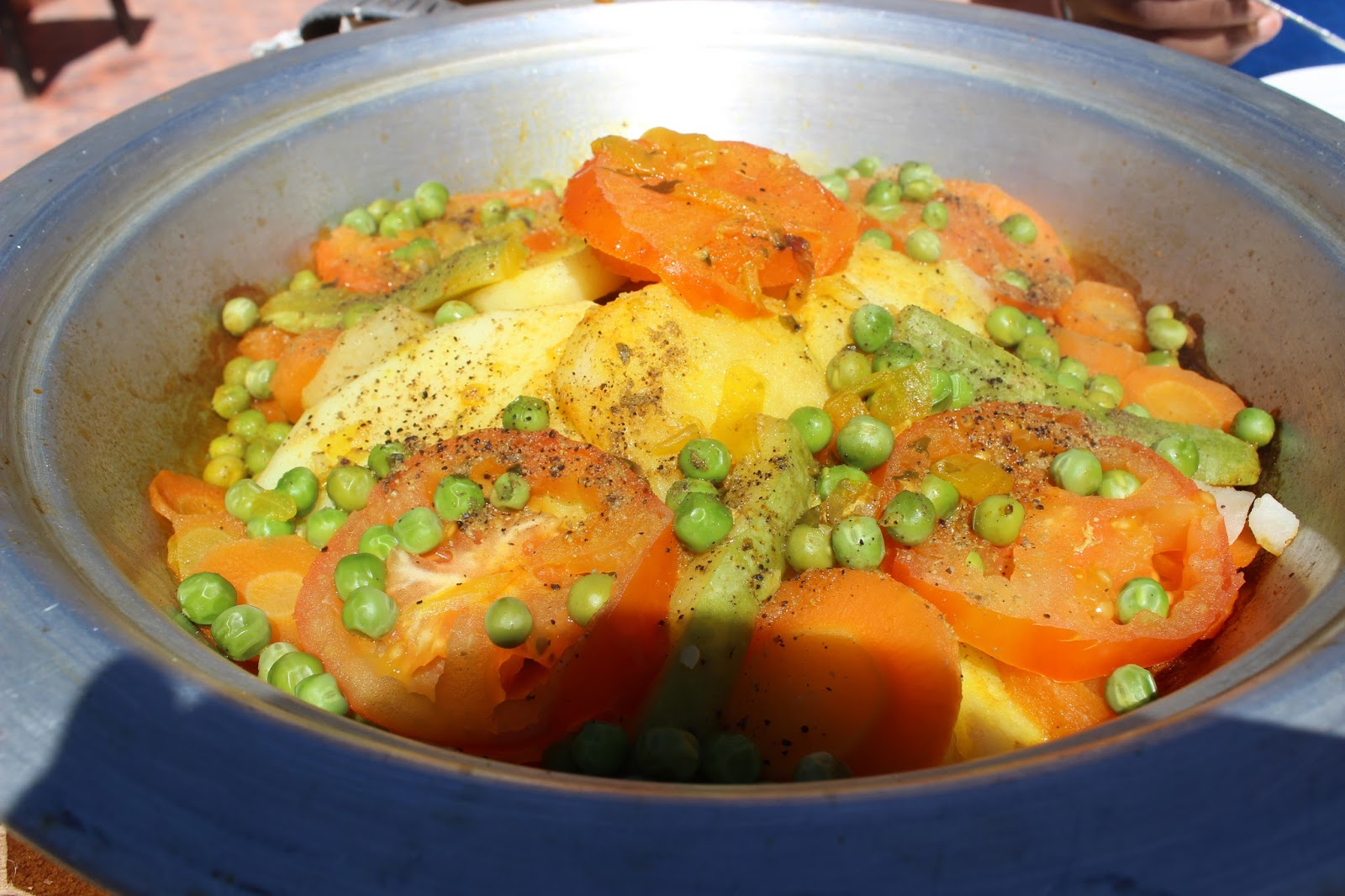 chicken tagine and vegetables