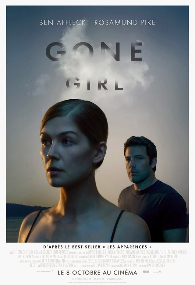 Gone Girl, Movie Poster, Directed by David Fincher, starring Rosamund Pike, Ben Affleck