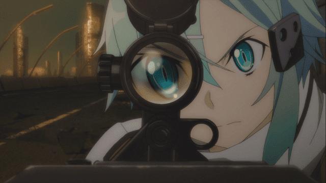 sinon adalah ahli sniper di gun gale online