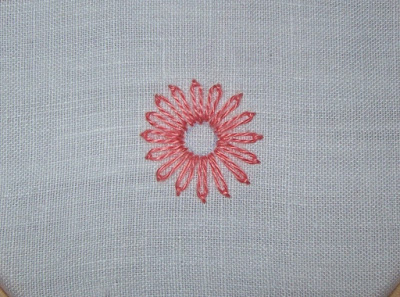 Lazy daisy stitch - Punto margherita