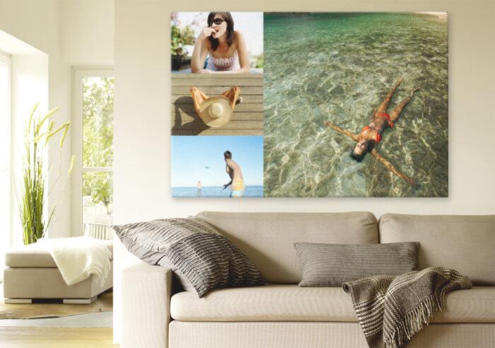 collage foto su tela
