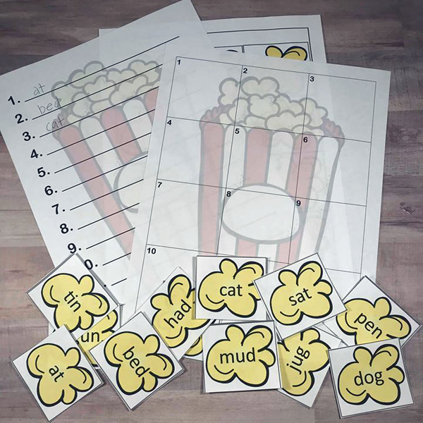 Popcorn Alphabetical Order Activity Square