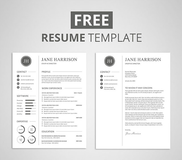 Free Resume Template and Cover Letter (PSD)