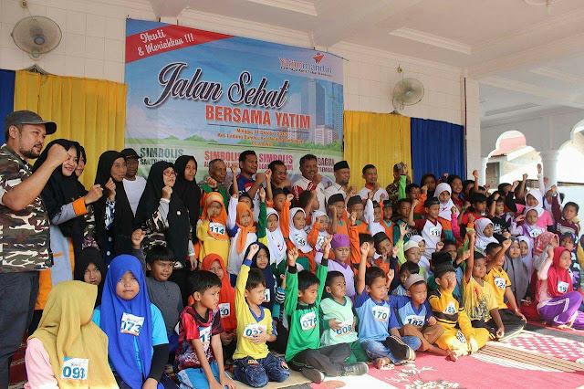 Salman Alfarisi Hadiri Jalan Sehat Bersama Yatim Mandiri Medan