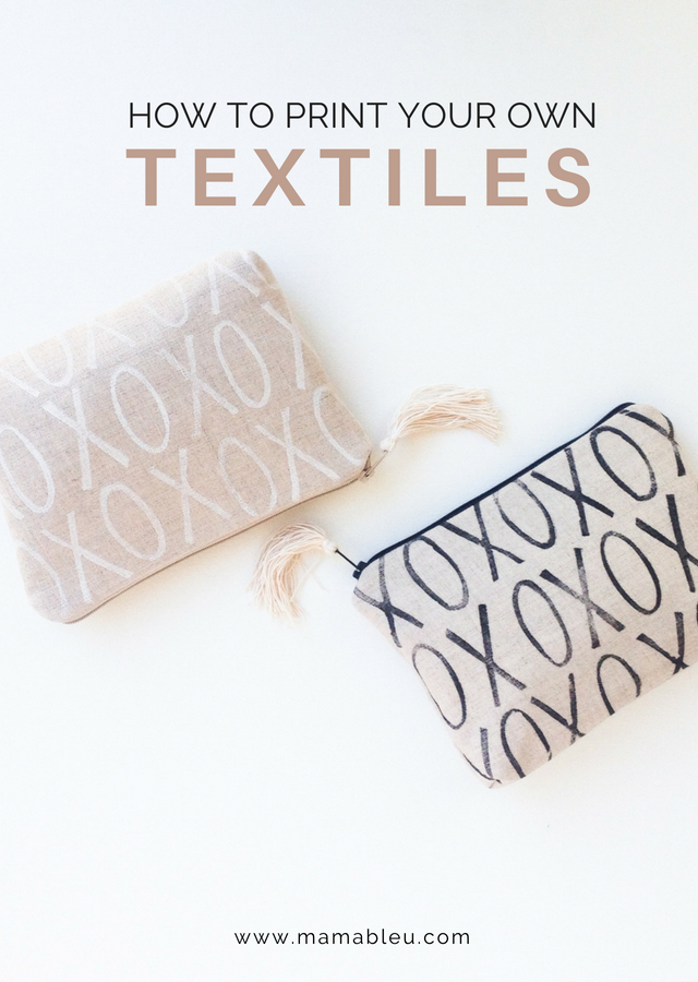 DIY How to Print Your Own Textiles | MamaBleu.com