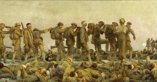 Gassed: John Singer Sargent's canvas from the WWI battlefield