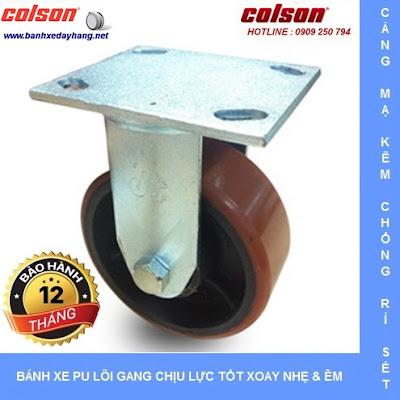 Bánh xe pu chịu lực lõi gang SP Caster Colson tại An Giang www.banhxeday.xyz