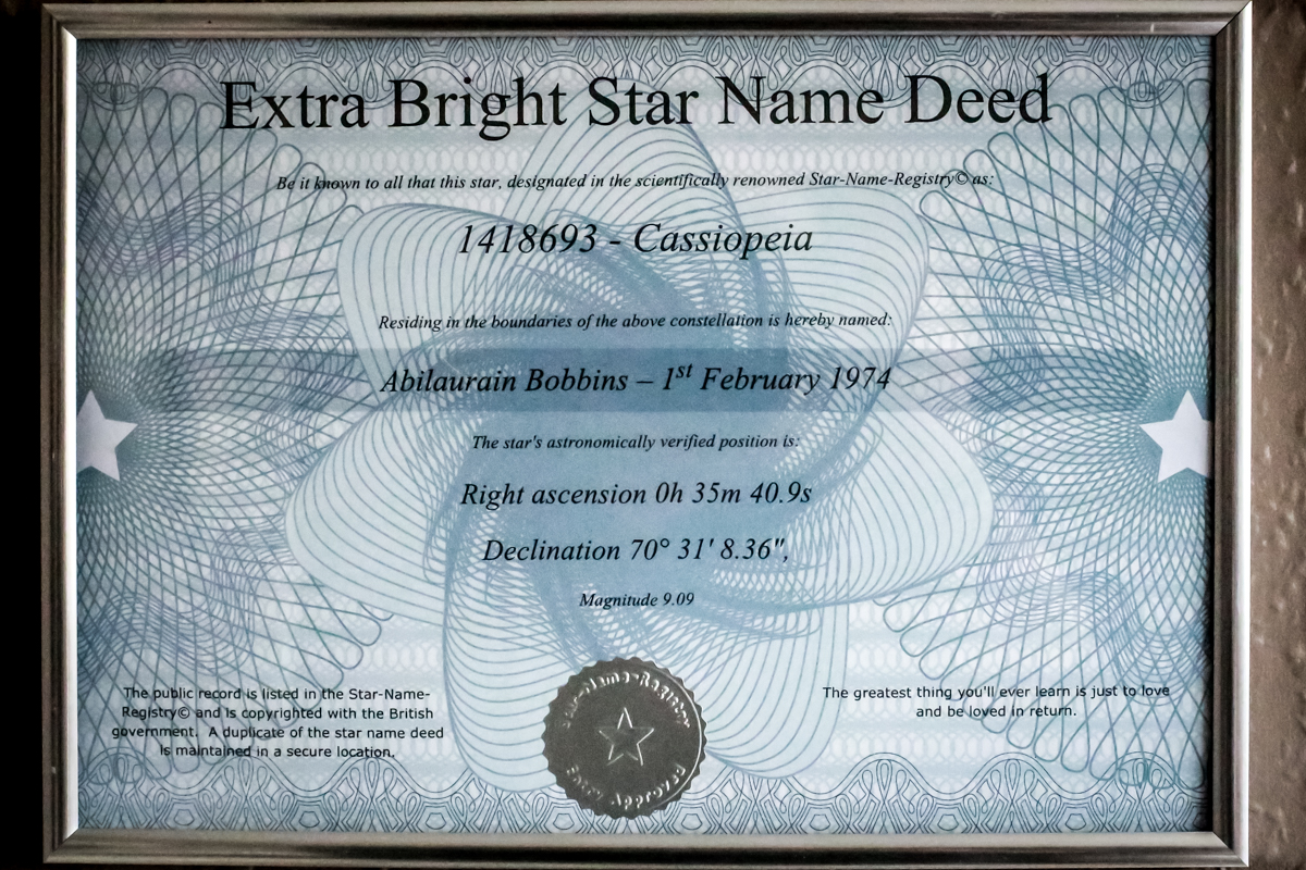Win your own star with star name registry mandy charlton a star deed from star name registry mandy charlton photographer blogger writer yadclub Image collections