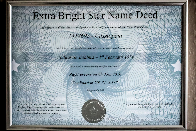 a star deed from star name registry, mandy charlton, photographer, blogger, writer, win your own star