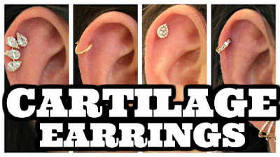 Cartilage Earrings, Hoops for Cartilage, Piercing Pagoda Cartilage Earrings
