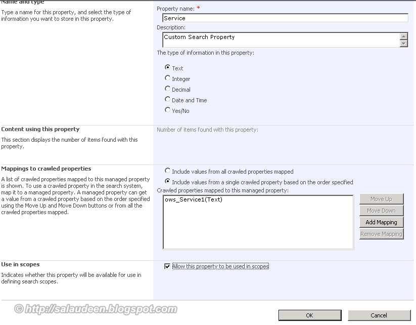 advanced search for custom columns sharepoint 2010