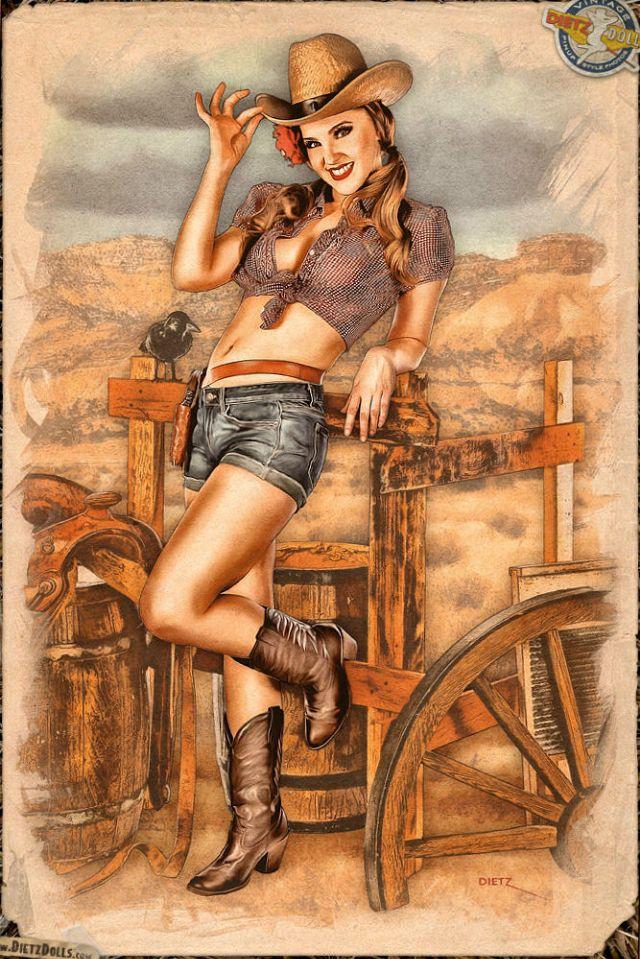 Latina nerd xxx cowgirl pin up girls