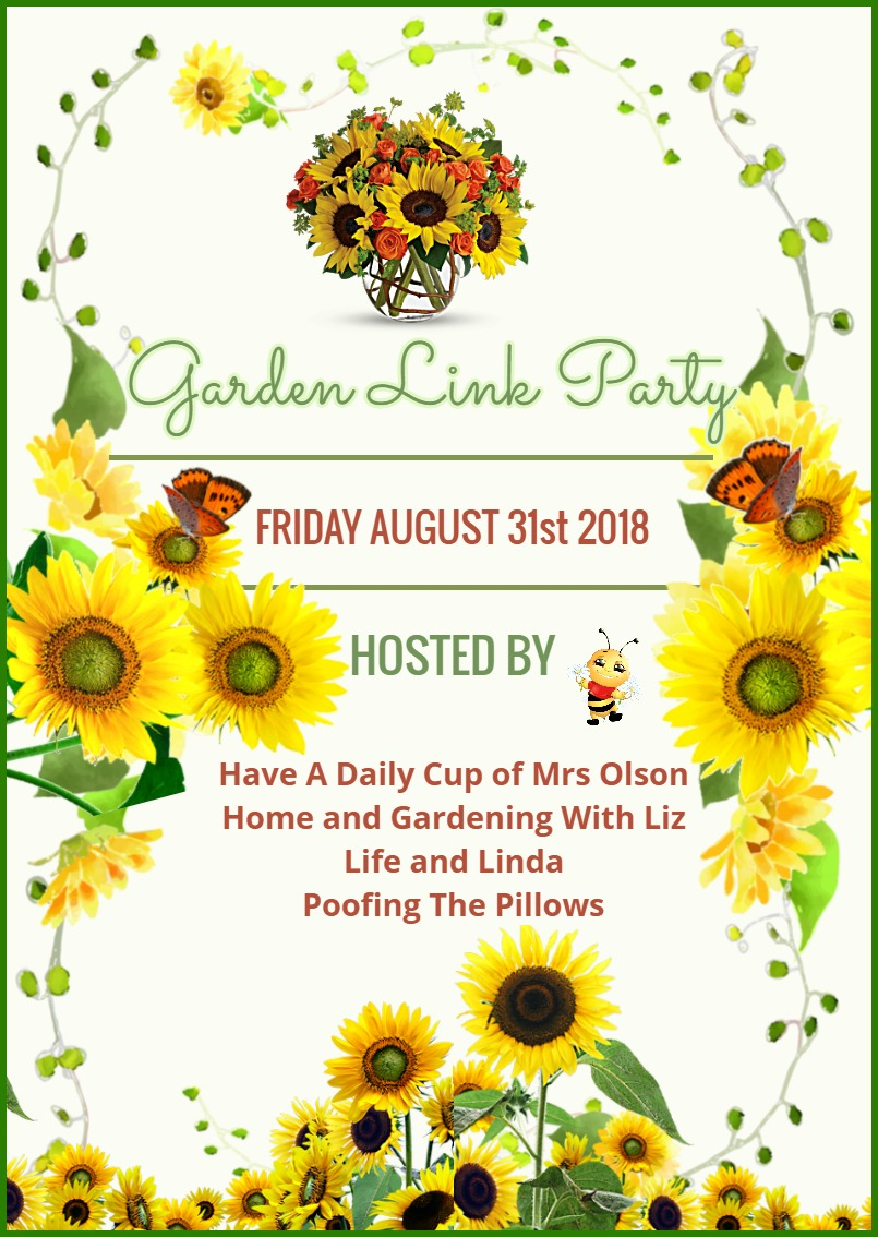 Please join us for the next garden party. Friday, August 31st.