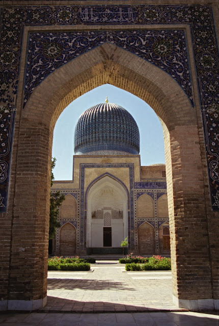 Ouzbékistan, Samarcande, mausolée Gour Amir, © Louis Gigout, 1999