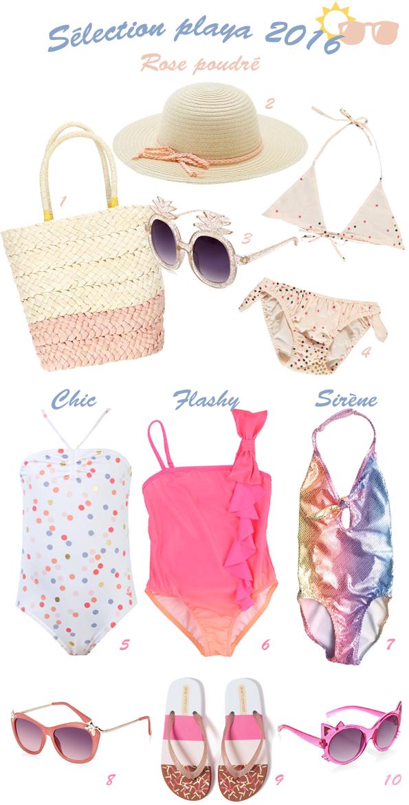 Sélection maillots et accessoires de plage pour fille - été 2016