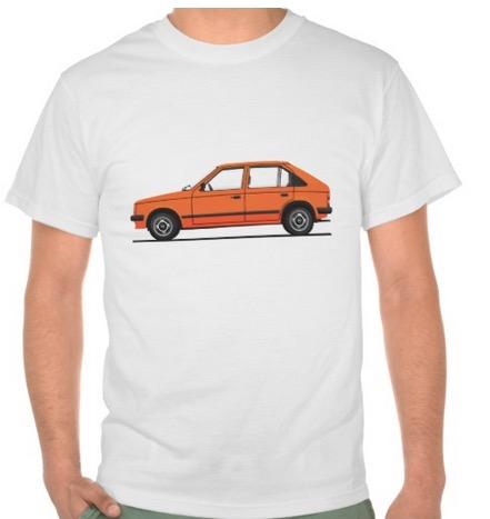 Opel Kadett D t-shirts Vauxhall Astra Mk1 orange