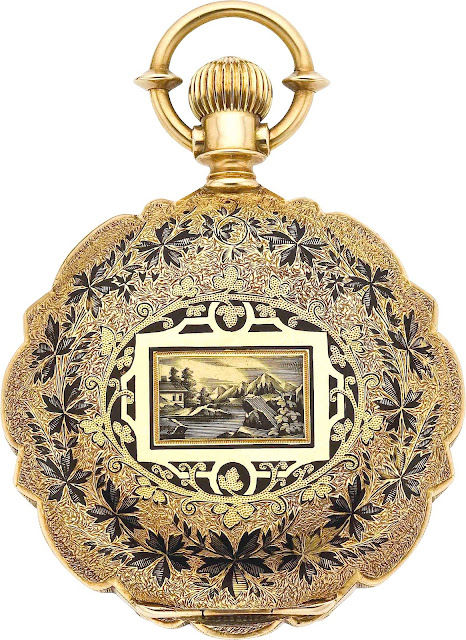 photo of 1879 ornamented gold watch