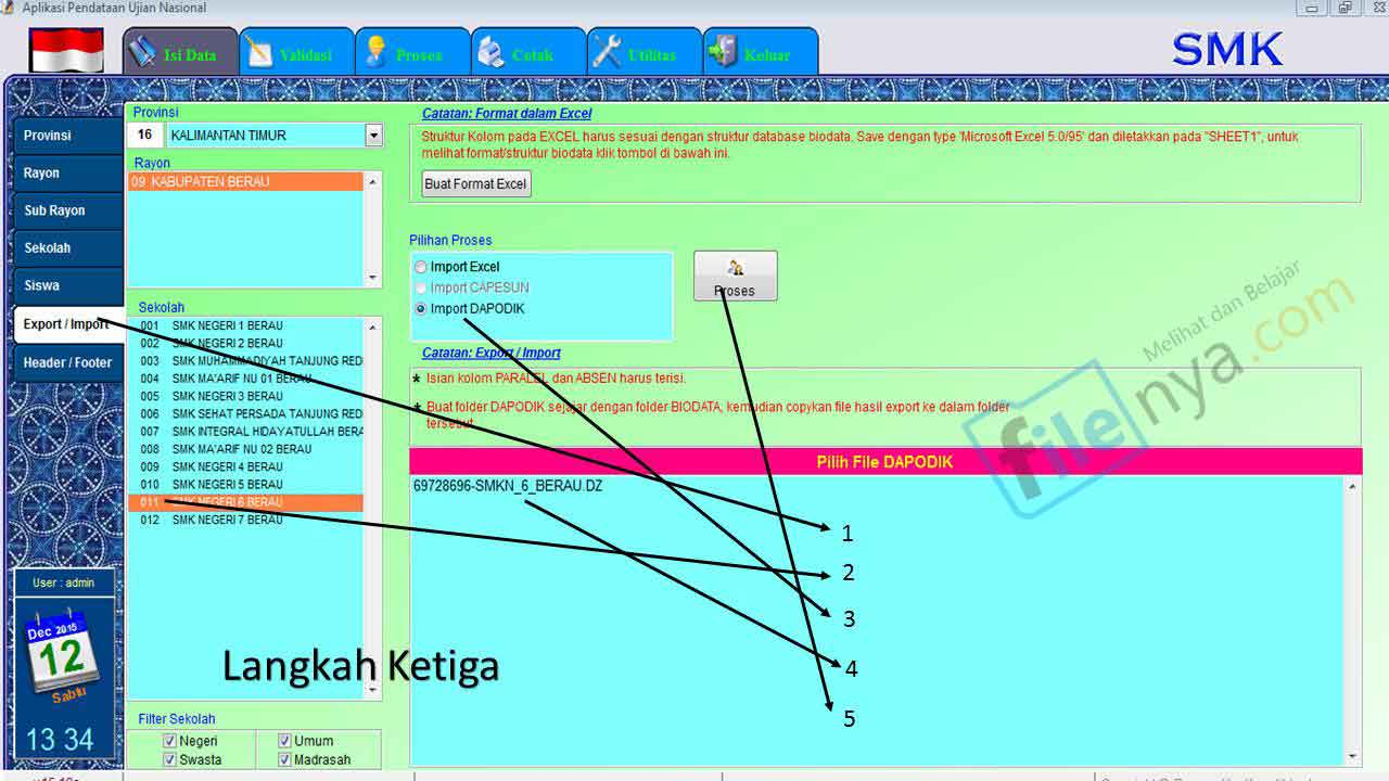 Download File Dz Dan Export Import File Dz Dapodik Bioun Mkks Sma Smk