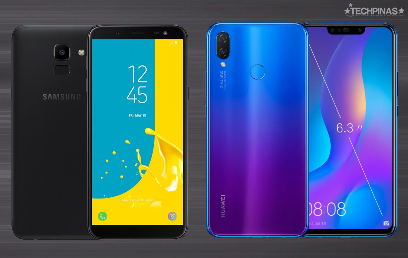 Samsung vs Huawei, Samsung Galaxy J6 vs Huawei Nova 3i