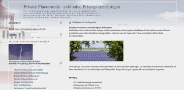 Private Placements Solar Wind Immobilien Umweltfonds 2014  Angebote