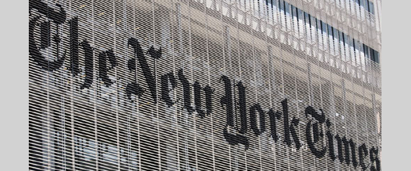 New York Times Building Exterior Signage