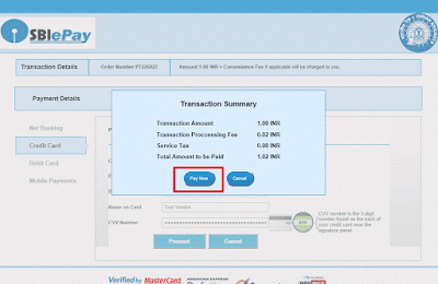 Works Tender TDC Payment Using Credit Card 04