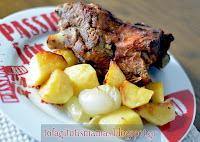 Κατσικάκι λεμονάτο στο φούρνο με πατάτες  - by https://syntages-faghtwn.blogspot.gr