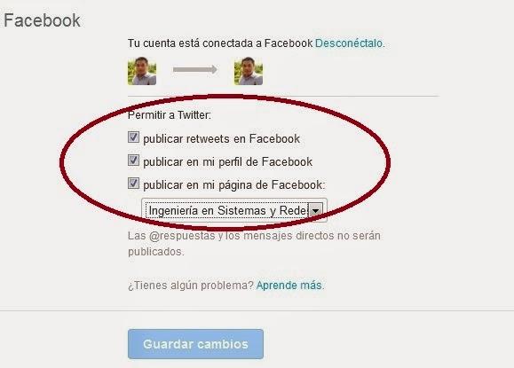Publicar En Facebook Y Twitter Desde Linkedin Blog De Tecnologia Ingenieria En Sistemas