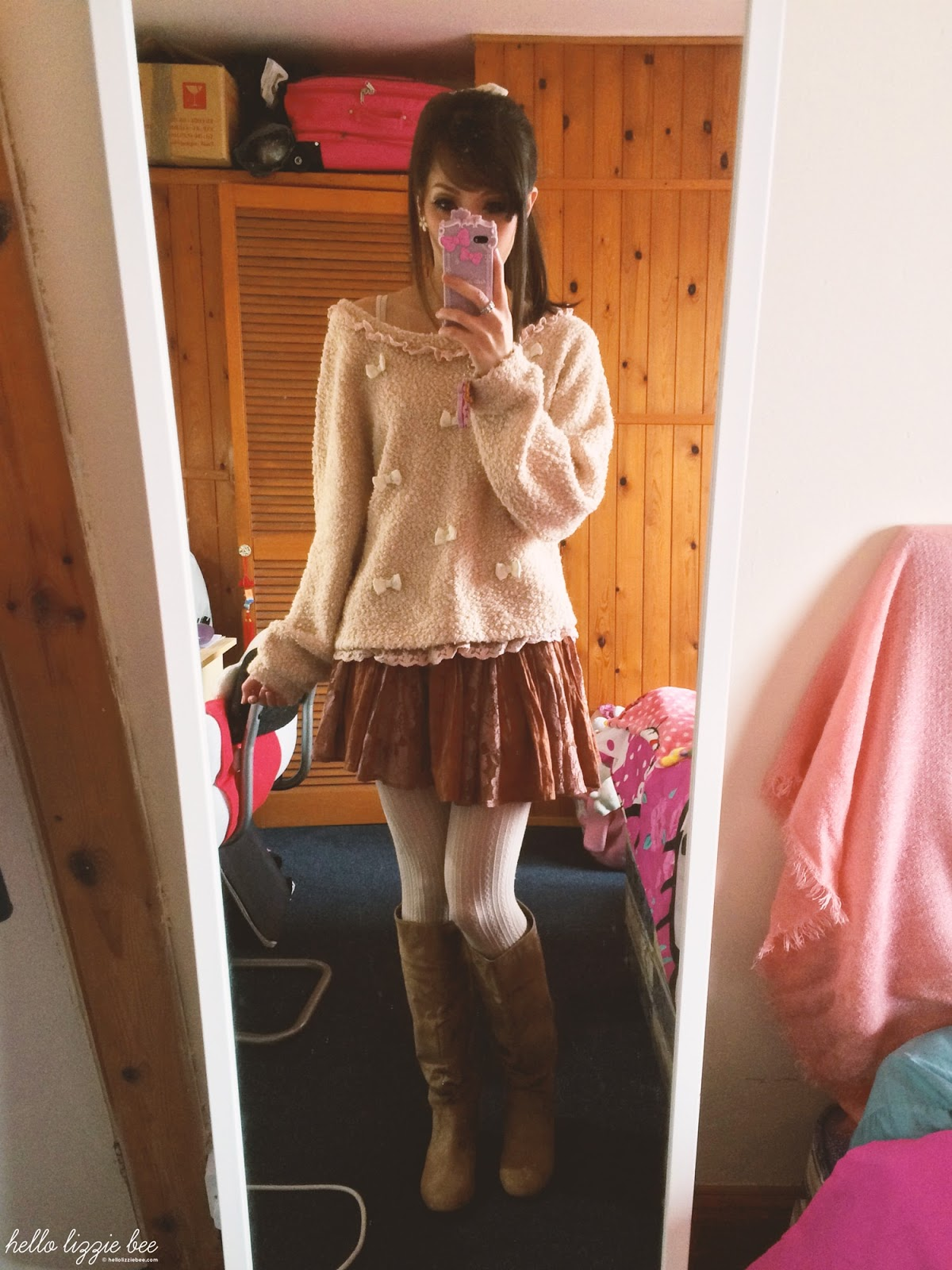 winter himekaji outfit