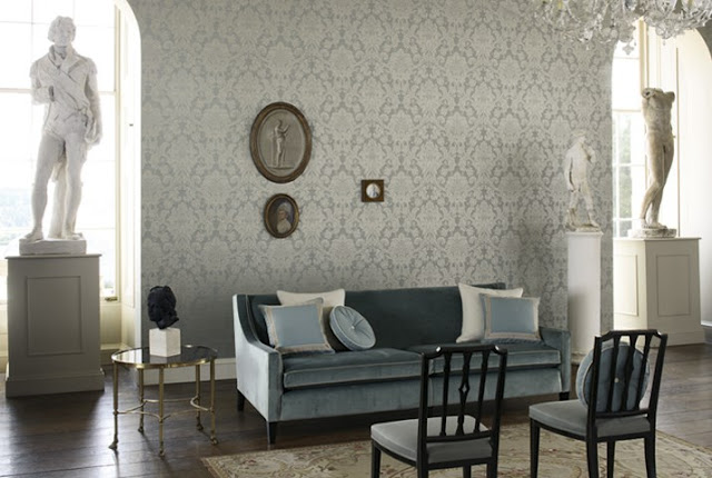 Eye For Design: Decorating With Damask........An Old World