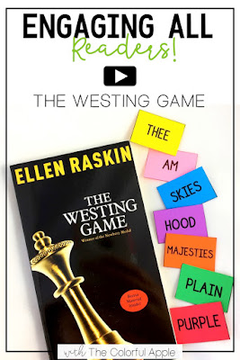 The Westing Game is a highly engaging novel for upper elementary.  Here are some activities to help students follow along in the novel and solve the mystery!