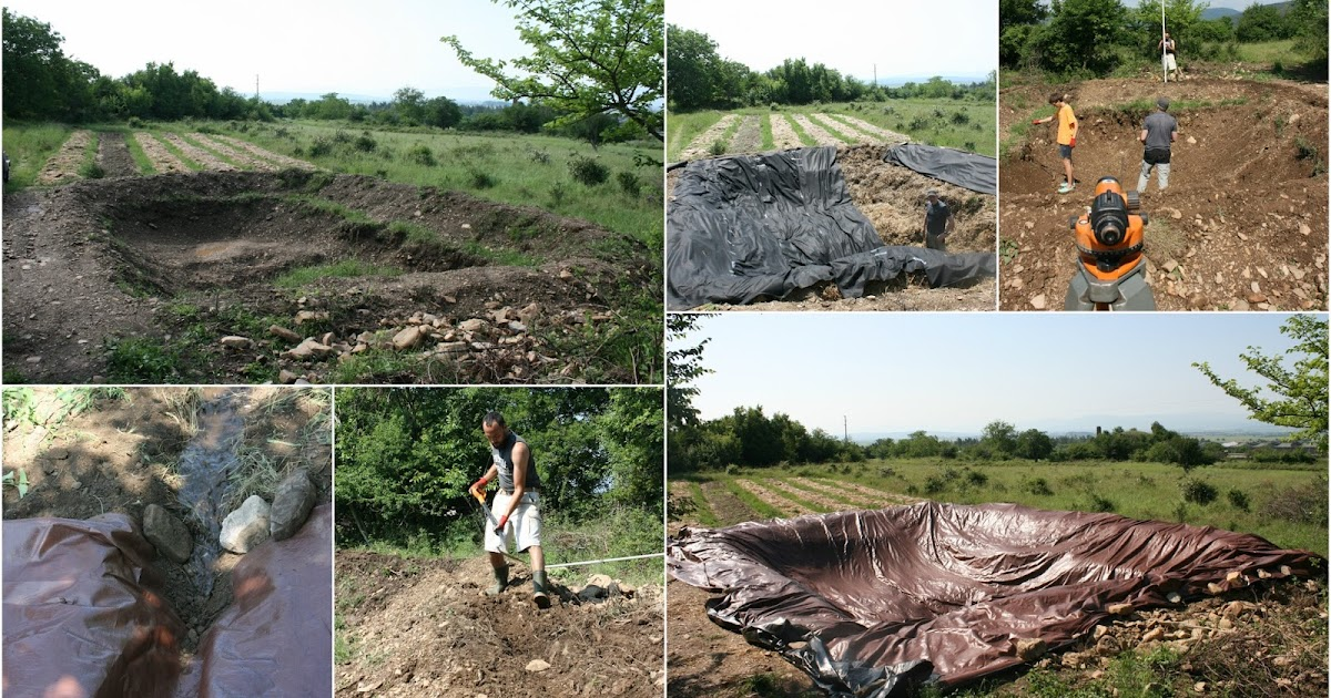 Balkan ecology project small pond installations for for Pond liner installation