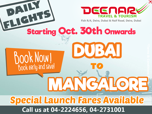 Dubai to Mangalore deenartravels.com